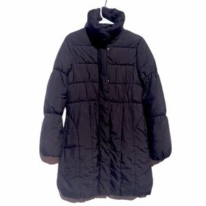 H&M puffer coat women's 6 black quilted jacket